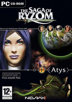 European Retail box for The Saga of Ryzom.