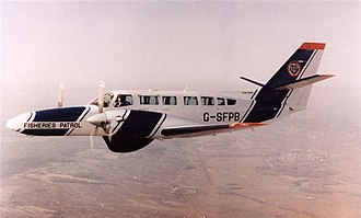 Scottish Fisheries Protection Agency - SFPA marked Cessna F-406 as operated by Highland Airways