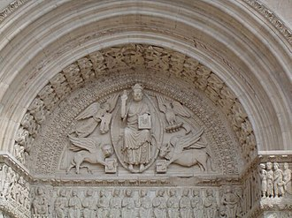 Church of St. Trophime, Arles - Tympanum of the west portal