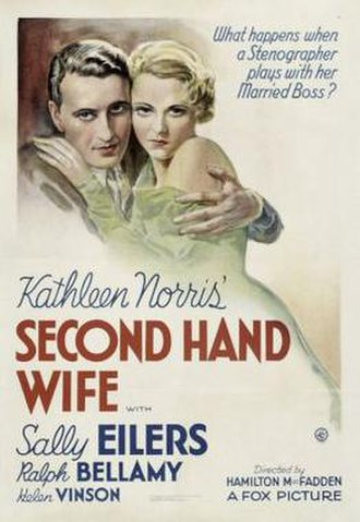 Second Hand Wife - Theatrical release poster