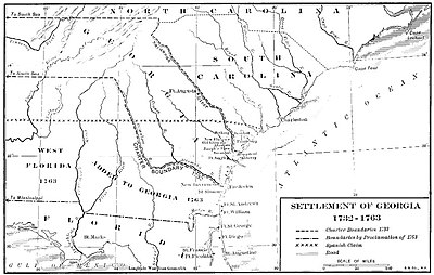 Colonial Map Of Georgia.Province Of Georgia Wikipedia