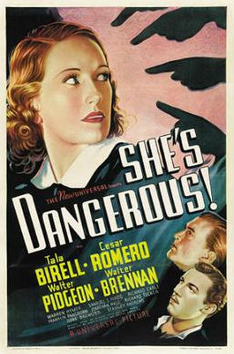 She's Dangerous - Theatrical release poster