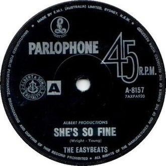 She's So Fine - Image: She's So Fine The Easybeats single label