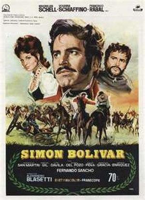 Simón Bolívar (1969 film) - Film poster