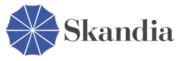 "Skandia's old blue ""umbrella"" logo"