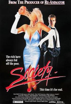 Society (film) - Film poster for Society.