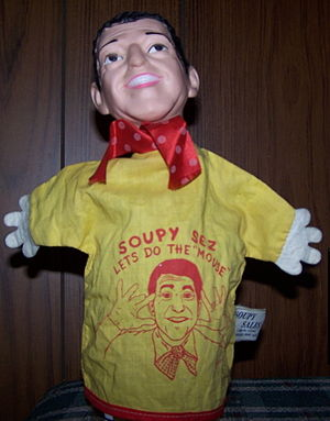 Soupy Sales - A hand puppet featuring a likeness of Sales