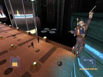 Star Wars: Bounty Hunter - Bounty Hunter allows players to target an enemy and then move without losing target lock. This allows for manoeuveres such as circle strafing.