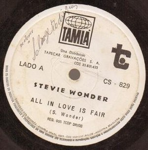 "All in Love Is Fair - Image: Stevie Wonder ""All in Love Is Fair"""