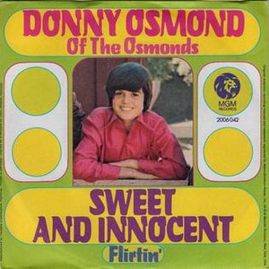 Sweet and Innocent (Donny Osmond song) - Image: Sweetandinnocent