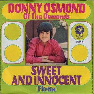 Sweet and Innocent (Donny Osmond song) - Image: Sweetandinnocent