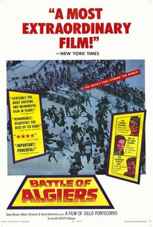 The Battle of Algiers - Theatrical release poster