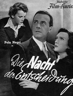 <i>The Night of Decision</i> (1938 film) 1938 film