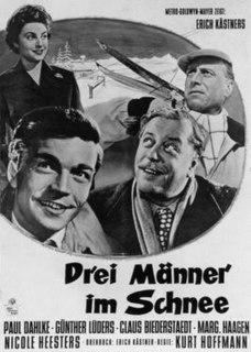<i>Three Men in the Snow</i> (1955 film) 1955 film by Kurt Hoffmann