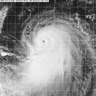1997 Pacific typhoon season - Image: Tina 1997