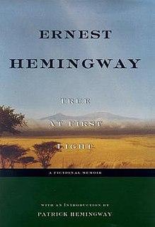 <i>True at First Light</i> Book by Ernest Hemingway