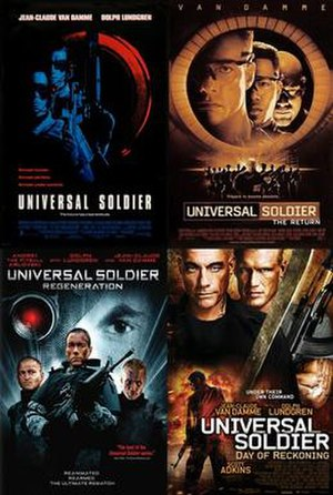 Universal Soldier (franchise) - Theatrical posters of the Universal Soldier films starring Jean-Claude Van Damme.