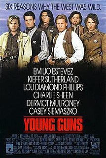 <i>Young Guns</i> (film) 1988 Western film by Christopher Cain