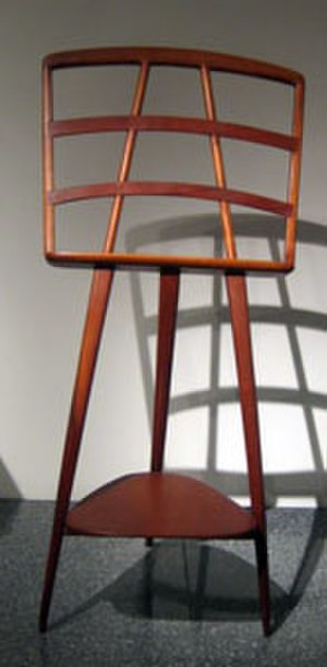 Wharton Esherick - 'Music Stand' by Wharton Esherick, cherrywood, 1962, Metropolitan Museum of Art