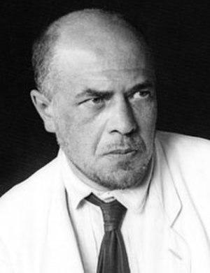 Alexander Vesnin - Photo by Alexander Rodchenko, 1924 (fragment)