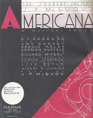 Americana (revue) - Americana 1932 Sheet Music