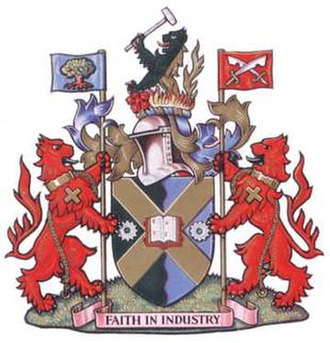 Edmonton, London - Arms of the former Municipal Borough of Edmonton