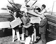 First transcontinental, international air shipment of avocados from Los Angeles, CA to Toronto for the Canadian National Exposition.