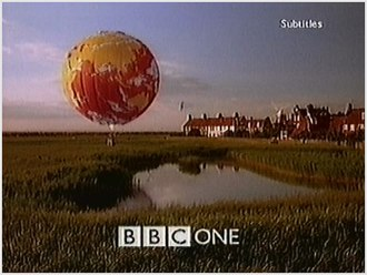Cley Windmill - The BBC balloon over Cley Windmill