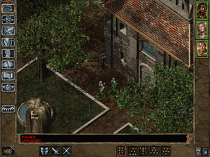 Baldur's Gate II: Shadows of Amn - In the Government District, Athkatla, are the Council of Six building, the Prison, and the estates of the rich nobility.