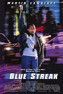 <i>Blue Streak</i> (film) 1999 film by Les Mayfield