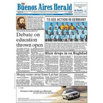 Buenos Aires Herald - Image: Buenosairesheraldpos ter