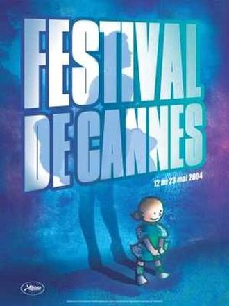 2004 Cannes Film Festival - Official poster of the 57th Cannes Film Festival featuring an illustration by Alerte Orange.