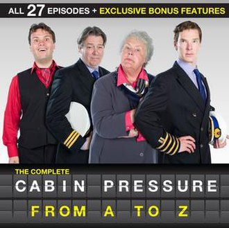 Cabin Pressure (radio series) - Cover of the complete CD collection of Cabin Pressure, depicting cast. Left-to-right: John Finnemore, Roger Allam, Stephanie Cole and Benedict Cumberbatch.