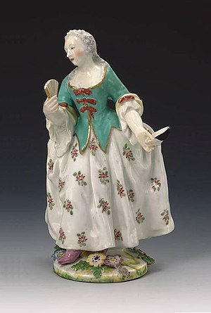 Chelsea porcelain factory - Image: Chelsea Porcelain Factory Lady c 1755