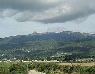 Cofre de Perote - Cofre de Perote from the northwest