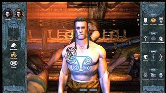 Age of Conan - A screenshot of the character creation and extensive customization featured in Age of Conan.