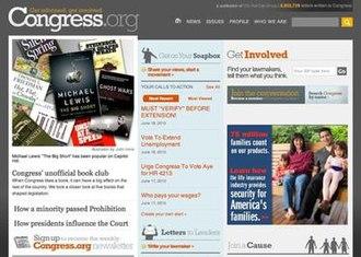 Congress.org - Image: Congress.org screenshot