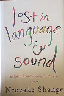 <i>Lost in language & sound</i> book by Ntozake Shange
