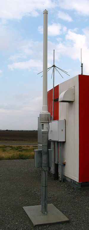 Distance measuring equipment - DME antenna beside the DME transponder shelter