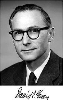 David E. Green American biochemist