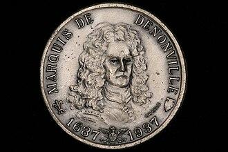Jacques-René de Brisay de Denonville, Marquis de Denonville - Obverse of the Denonville medal