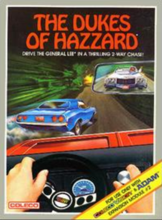 The Dukes of Hazzard (video game) - Cover art (Coleco version)