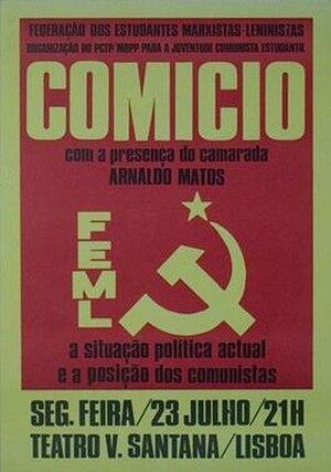 Marxist–Leninist Students' Federation - Image: Federação dos Estudantes Marxistas Leninistas (poster)