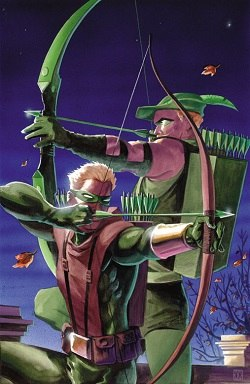 Green Arrows (Oliver Queen and Connor Hawke)