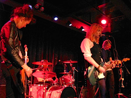 Hole performing during a set in Brooklyn, New York City, 2012