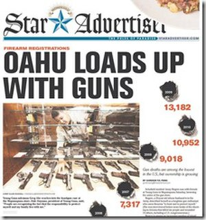Honolulu Star-Advertiser - Image: Honolulu Star Advertiser (front page)