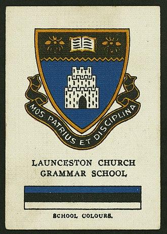 Launceston Church Grammar School - Image: Lanceston CG Scigcard