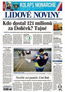 <i>Lidové noviny</i> Czech daily newspaper