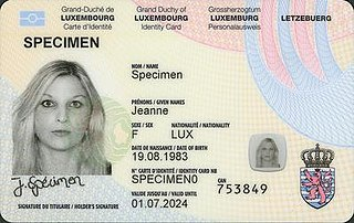 Luxembourgish identity card