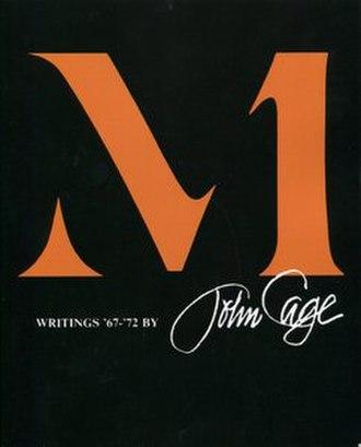 M (John Cage book) - Image: M Writings 67 to 72